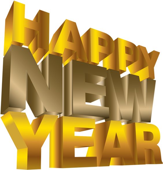 Happy New Year Png Clip Art Image - Happy New Year Png (575x600)