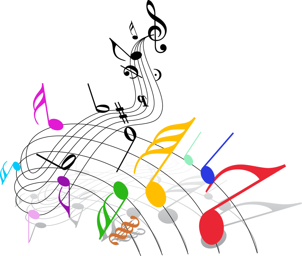 Картинки ноты в пнг