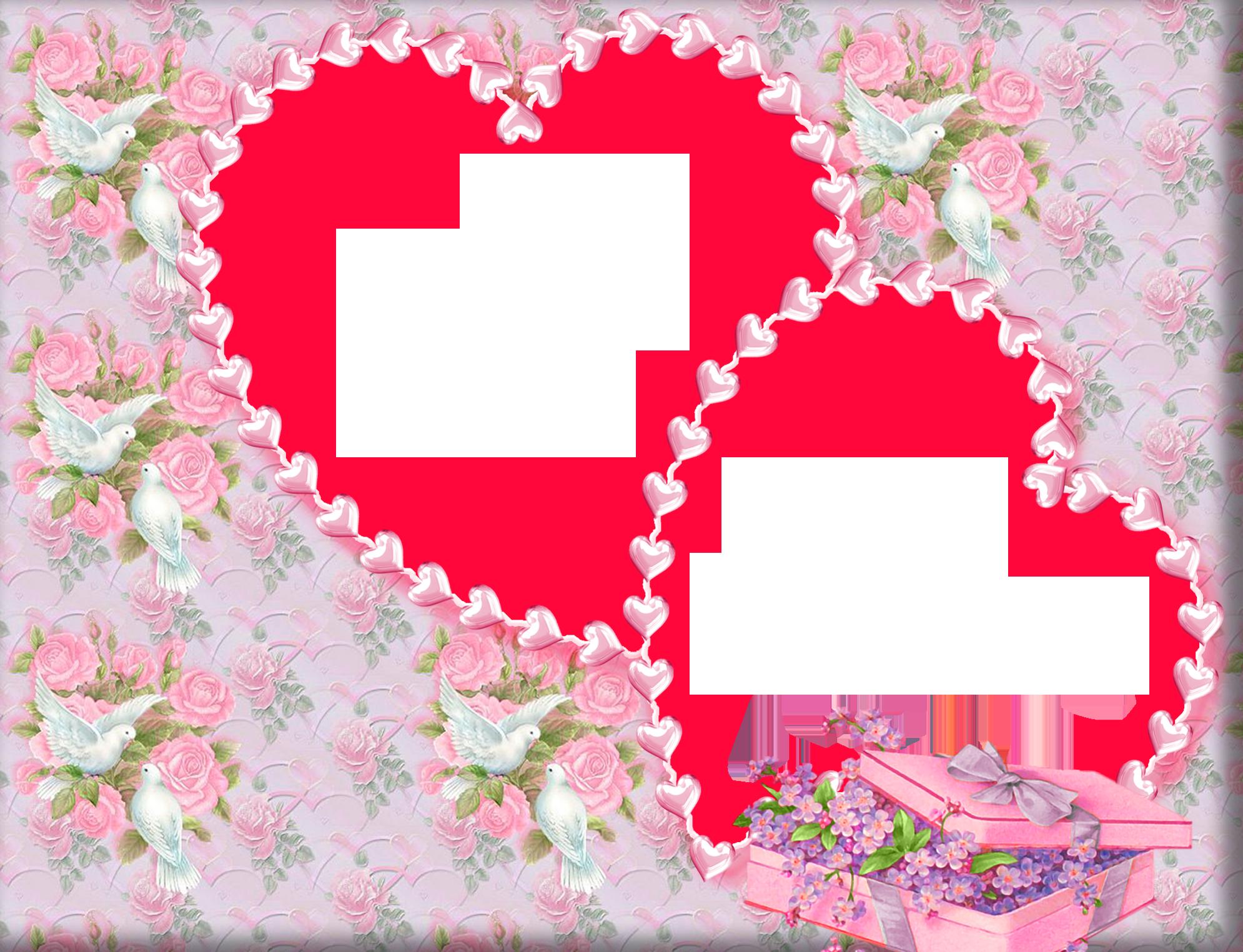 Сердце открытки рамки