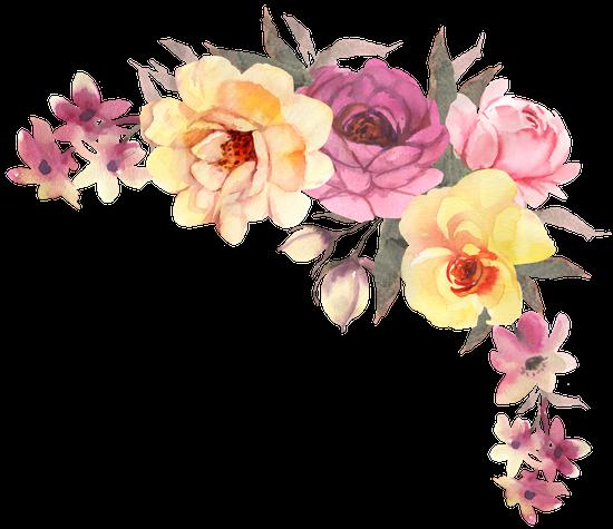 Watercolor Flower Bohemian Bouquet - Transparent ...