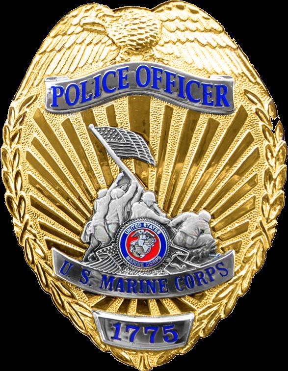 Police Badge Template - Usmc Military Police Badge (587x756)