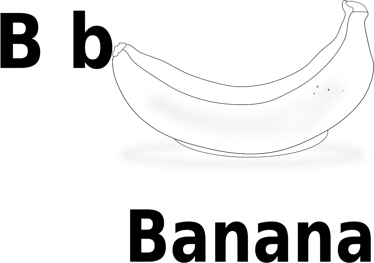 Картинка банан по английски