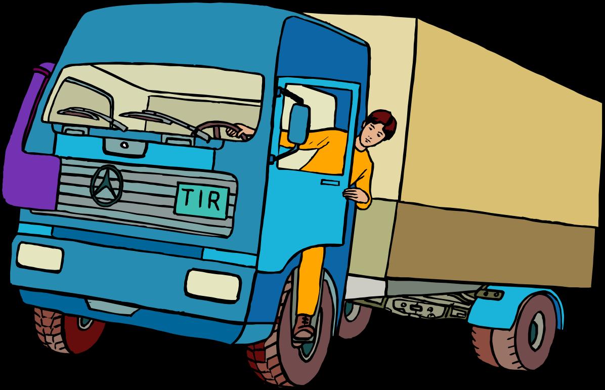 Водитель грузовика в картинках