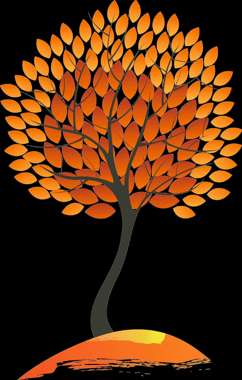 Дерево с осенними листьями картинка для детей, хочу