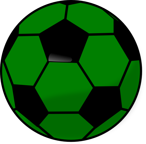 image about Soccer Ball Template Printable named Soccerball Clip Artwork At Clkercom Vector On-line - Printable