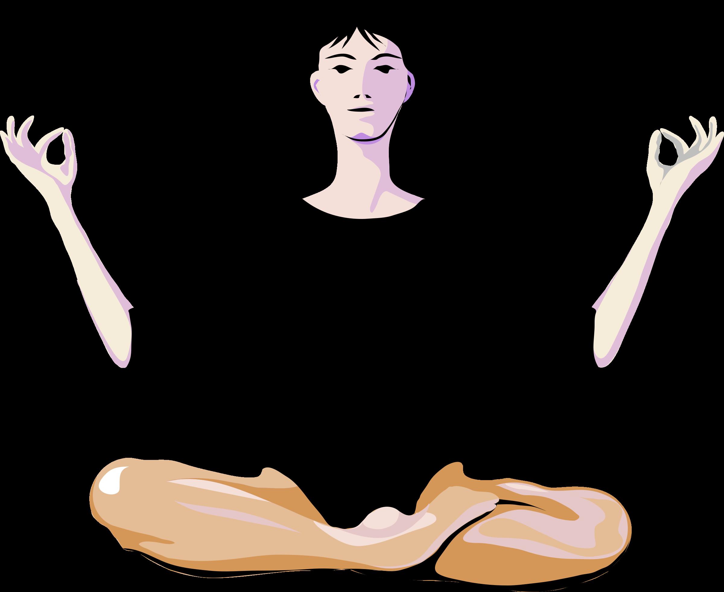 новым рисунок йога на белом фоне способствует быстрому