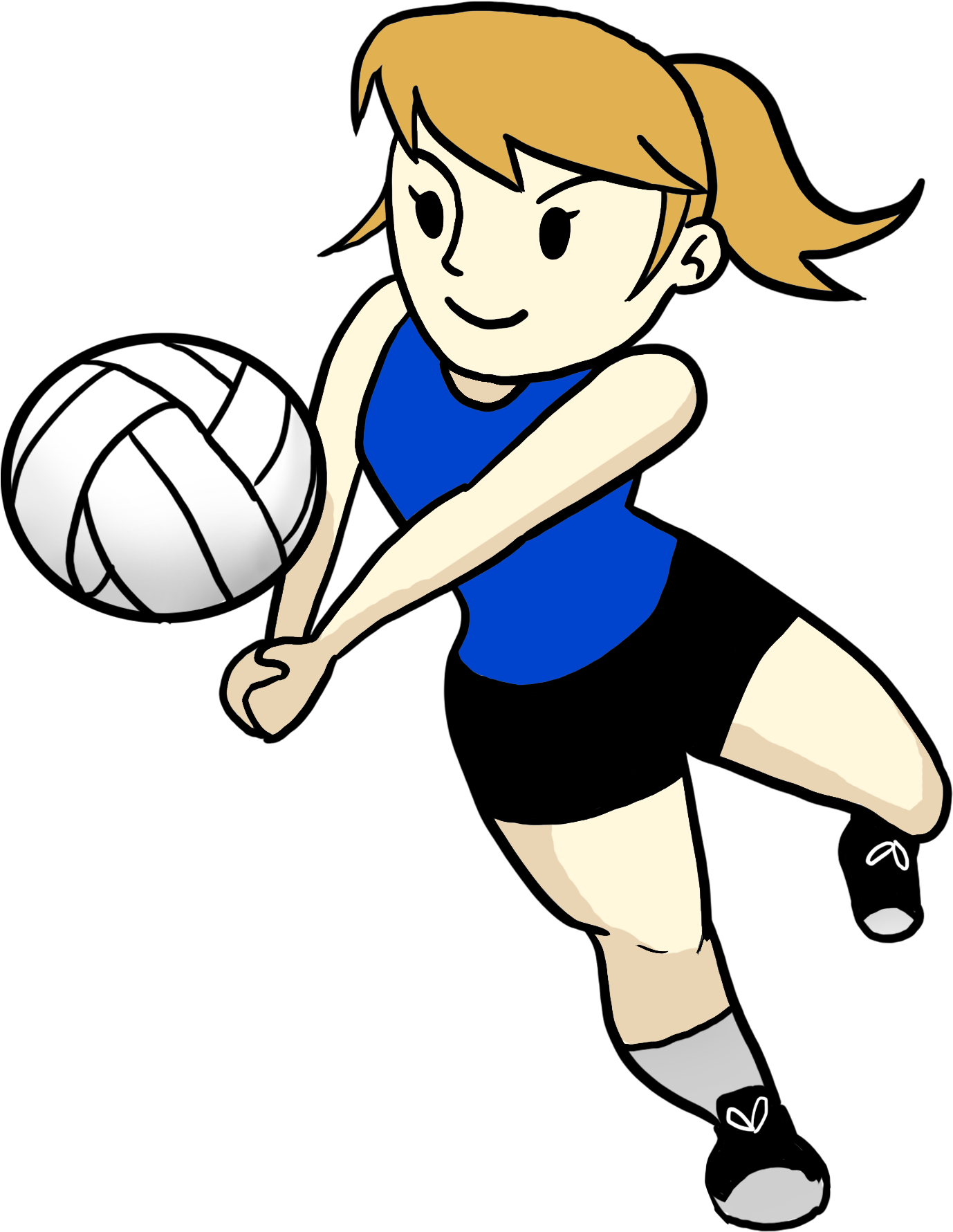Images For Volleyball Coach Cartoon - Emojis De Volleyball (1800x1800)