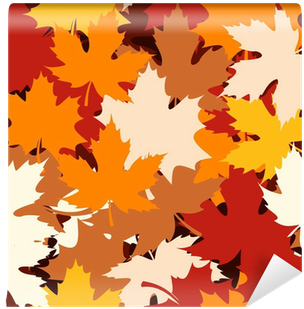 Seamless Pattern With Autumn Maple Leaves - Maple Leaf (400x400)