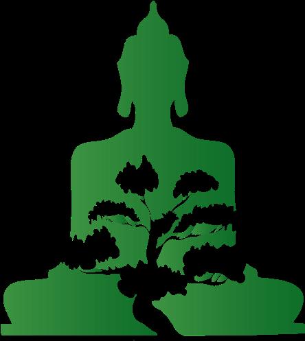 Bonsai Buddha - Icon Buddha Png Green (460x500)