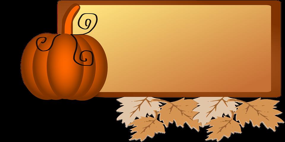 Orange Leaves Cliparts 27, Buy Clip Art - Fall Pumpkin Leaves Clip Art (960x480)