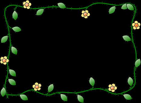 Border Flower Plant Nature Decoration Bord Free Clip Art Borders 466x340 Png Clipart Download