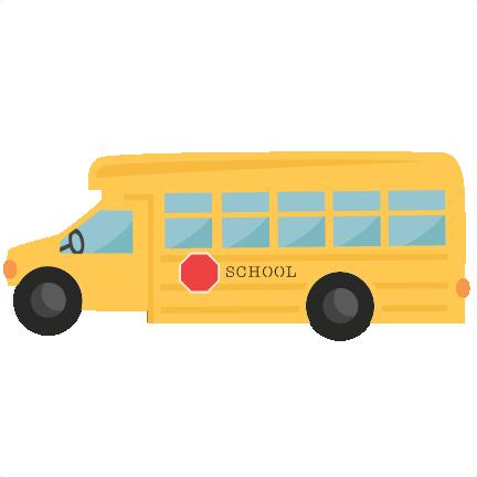 School Bus Svg Scrapbook Cut File Cute Clipart Files - School (432x432)