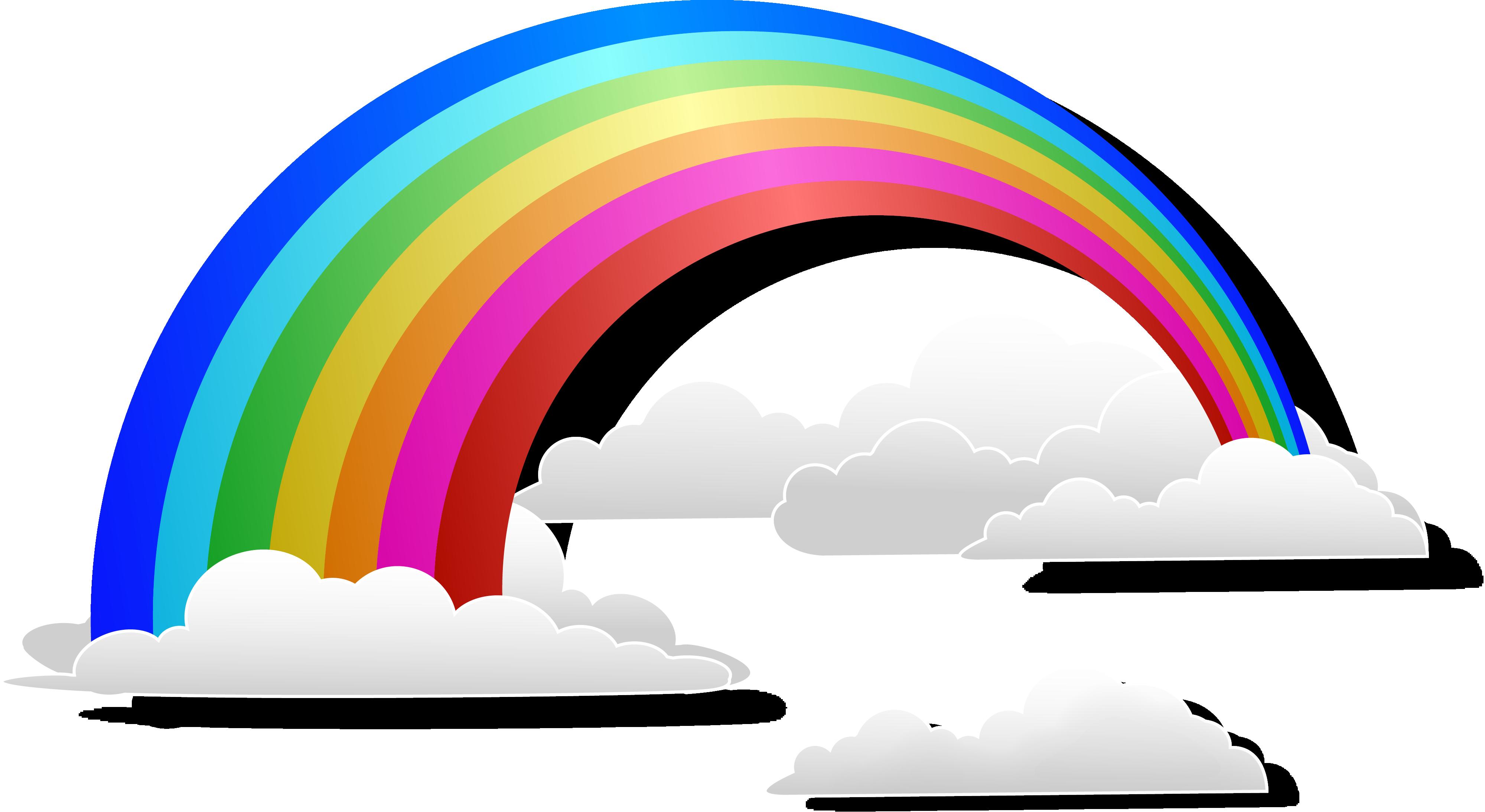 Прозрачная картинка радуги