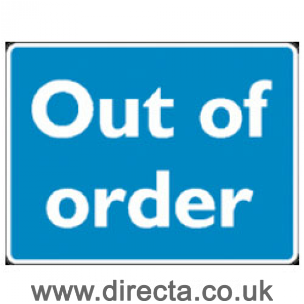 photo relating to Out of Order Sign Template called Out Of Buy Signal Term Templates No cost Term Templates
