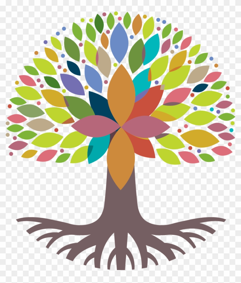 Religion Clipart Catholic School - Colorful Tree With Roots #903