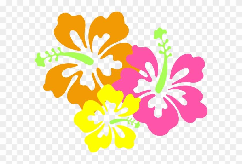 Hawaii Luau Clipart Kid - Hibiscus Clip Art #954