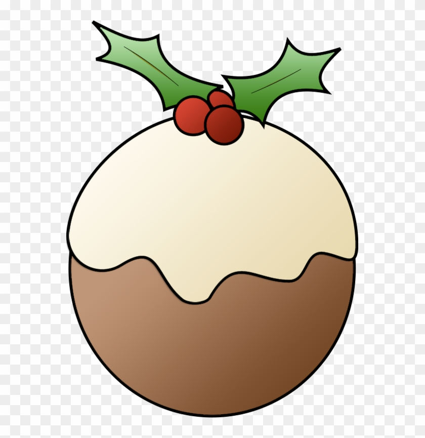 Christmas Pudding - Christmas Food Clipart #962