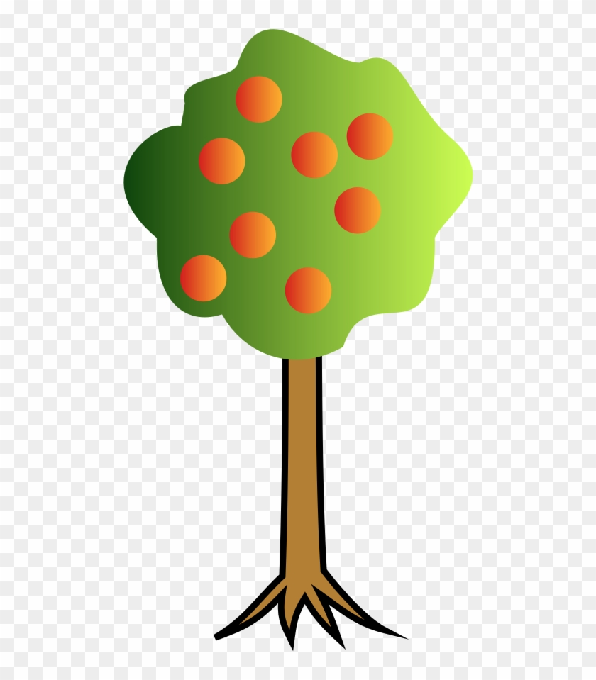 Clip Art Images Of Apple Tree - Cartoon Images Tree With Roots #973