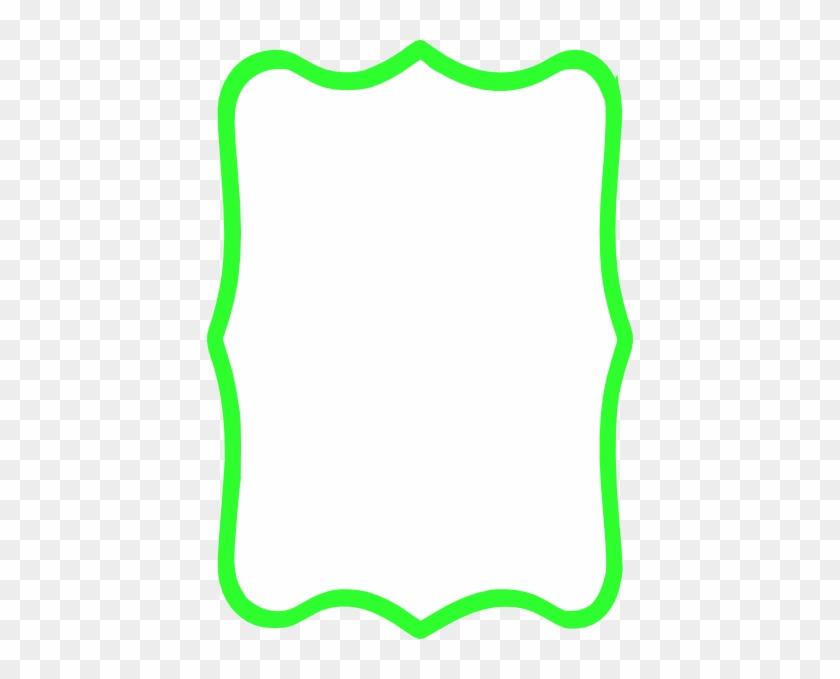 Green Border Clip Art - Neon Green Border Clipart #1007