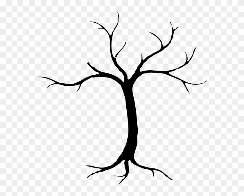 Sketchy Silhouette Tree Clip Art - Dead Tree Silhouette Clip Art #1084