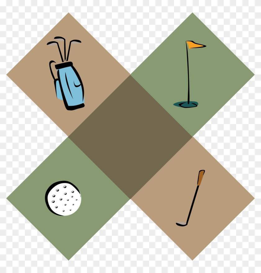 Big Image - Golf Border Clip Art #1102