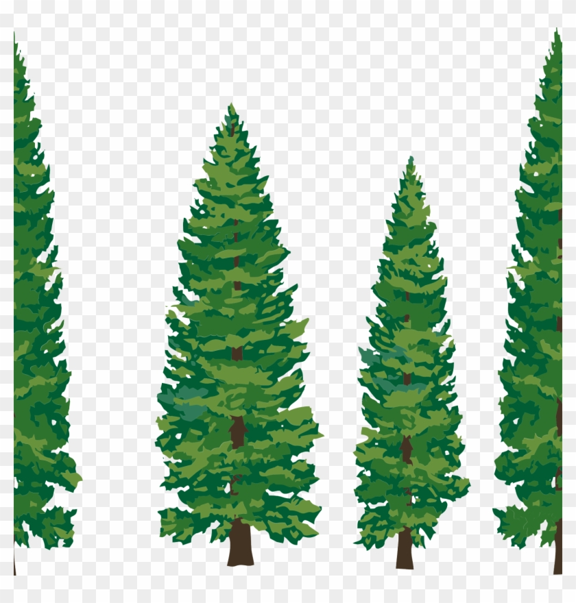 Pine Trees Silhouette Pine Clipart Ndi85k9cepng - Transparent Pine Tree Clip Art #1125