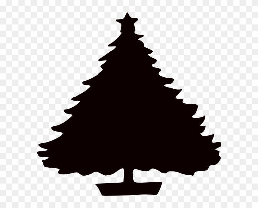 Black Christmas Tree Silhouette Clip Art - Black Christmas Tree Silhouette Clip Art #122