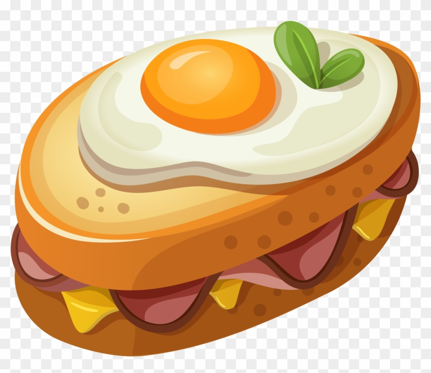 Sandwich With Egg Clipart Vector Picture - Food Png Clipart #1152