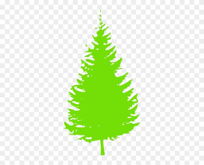 Pine Tree Clipart Short Tree - Pine Tree Silhouette Vector #1146