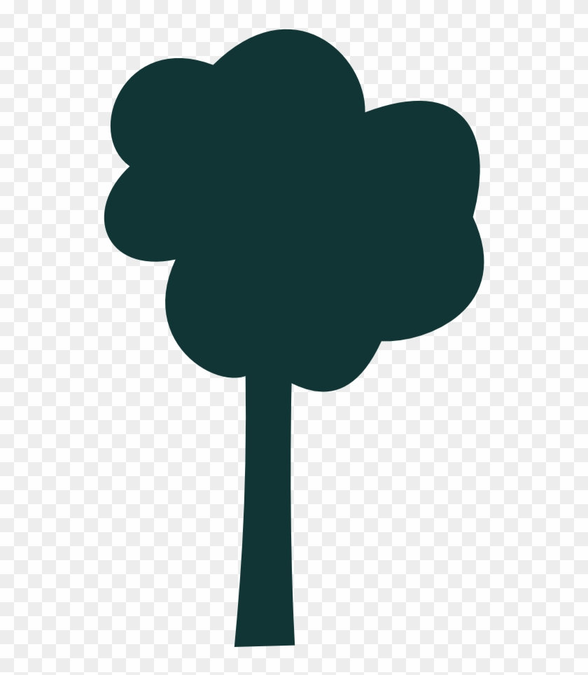 Simple Tree Outline - Simple Tree Vector Png #1161