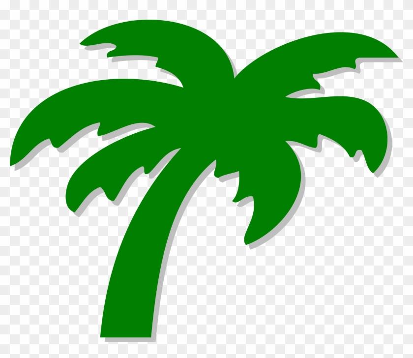 Palm Tree Clip Art - Green Palm Tree Clip Art #1188