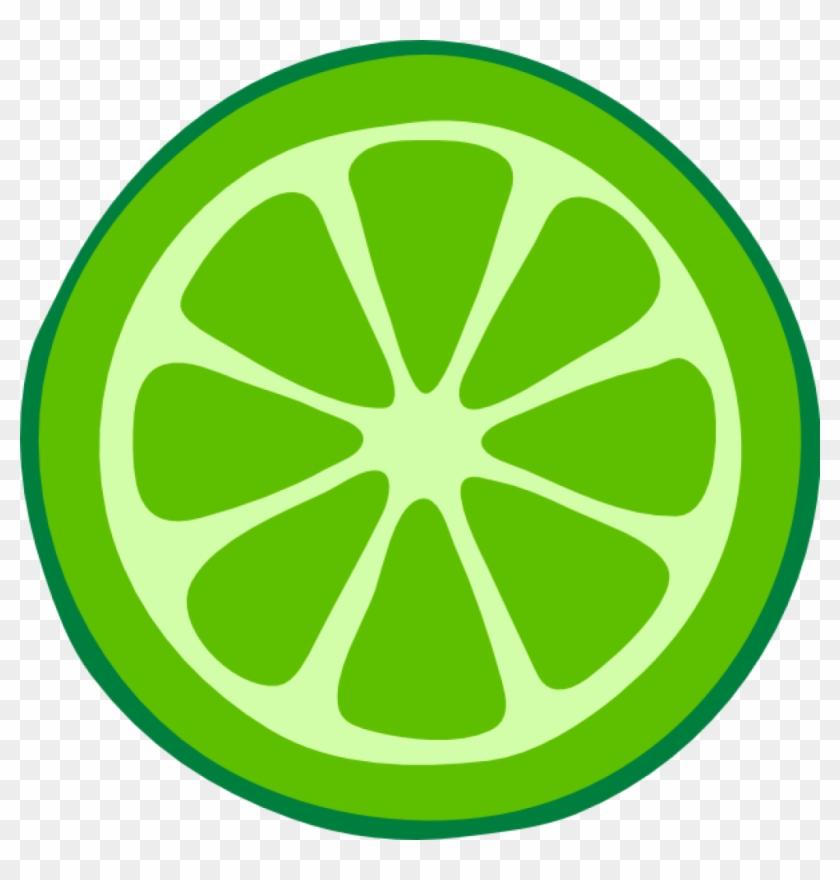 Lemon Slice Clip Art Green Clip Art Lime Slice Clip - Lime Clipart #1186