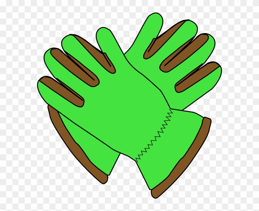 Gloves Clip Art - Green Gloves Clipart #1191