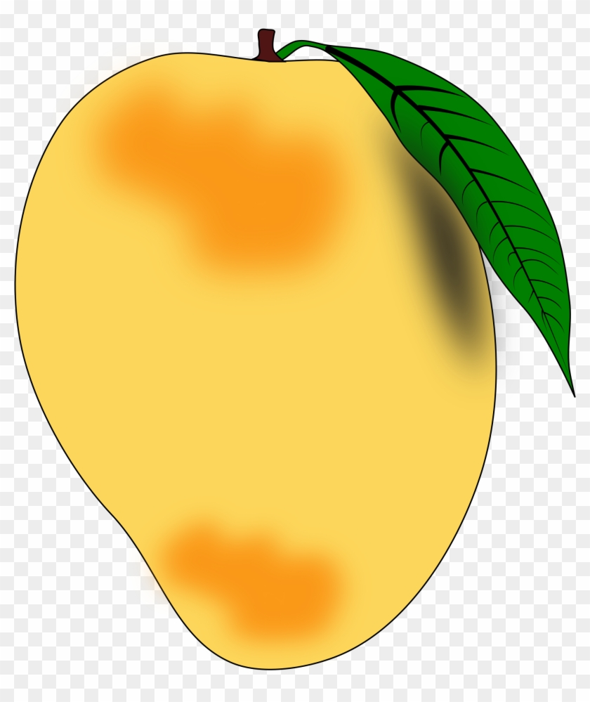 Mango Clip Art Images Black And White Free Download - Mango Clipart #1217
