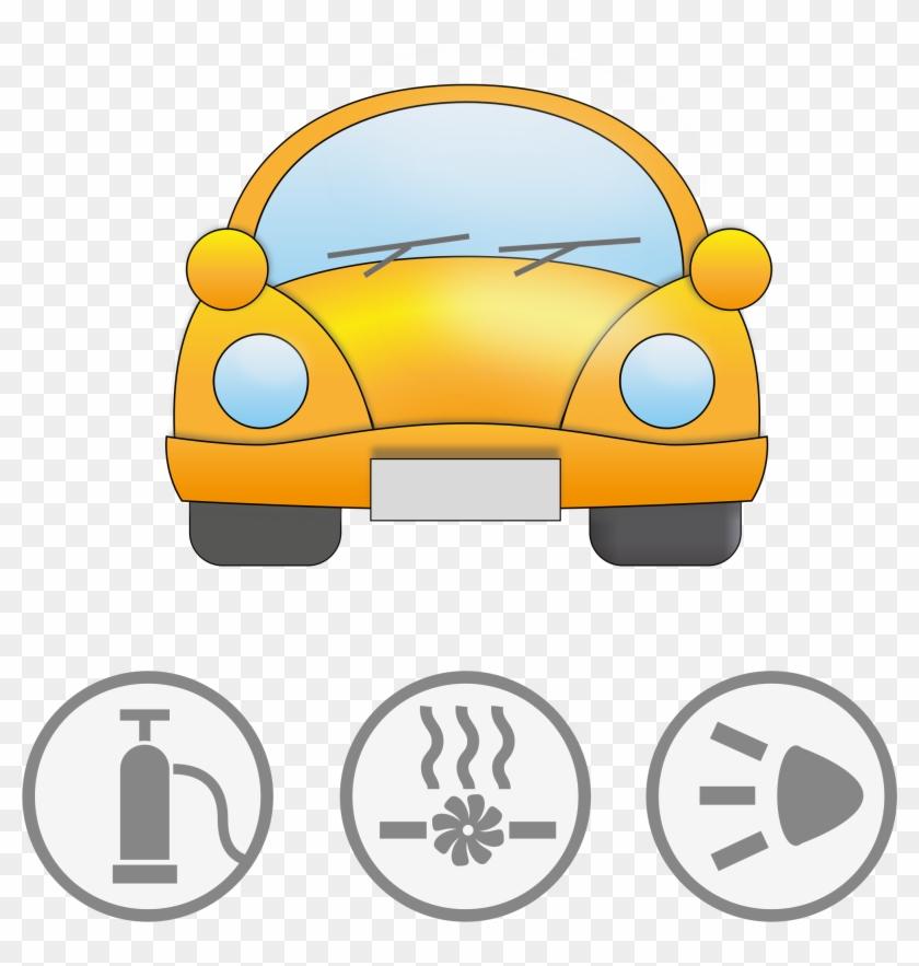 Big Image - Yellow Car Clipart #1218
