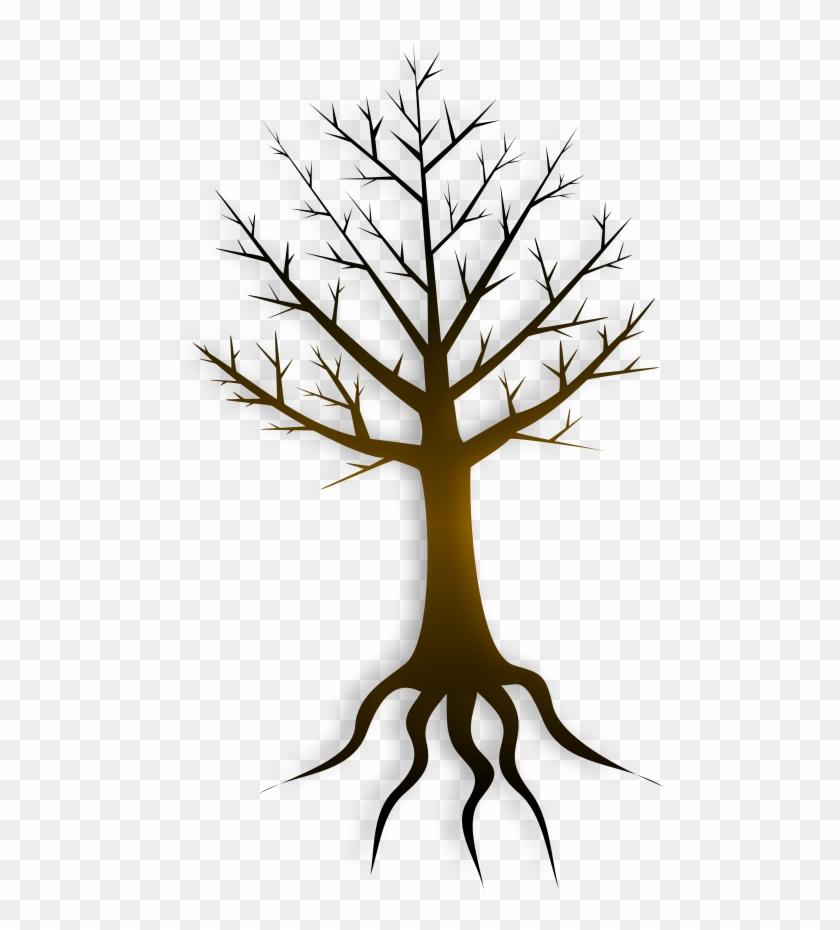 Tree Trunk Svg Vector File, Vector Clip Art Svg File - Vektor Akar Pohon #1284