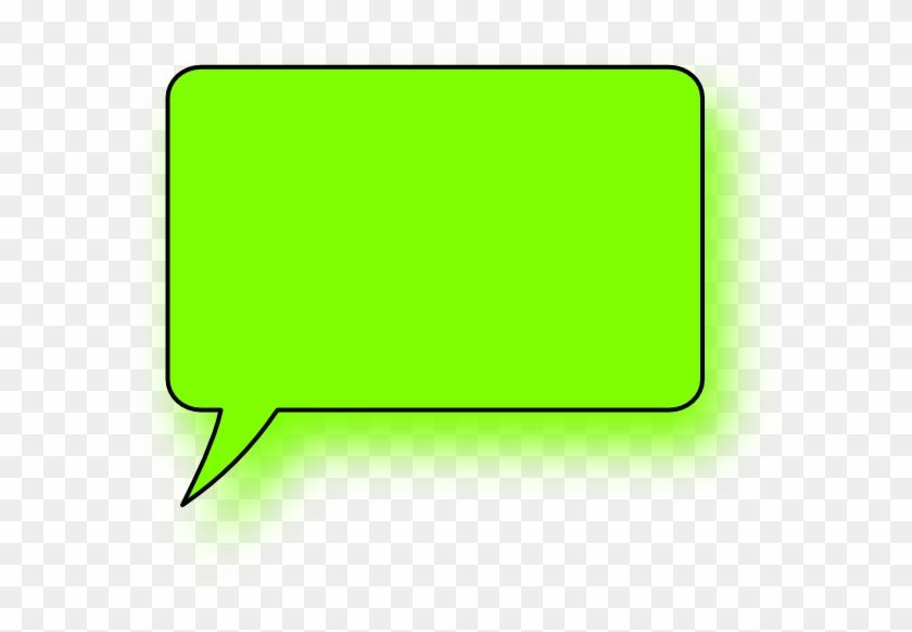 Square Speech Bubbles - Green Text Bubble Png #1307