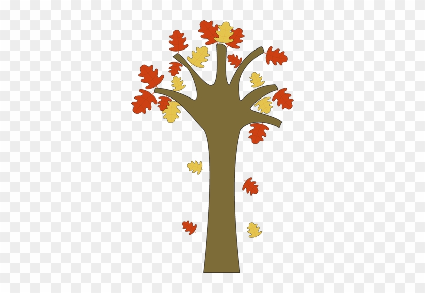 Clip Art Tree With Falling Leaves Clipart - Fall Leaves Falling Clipart #1308