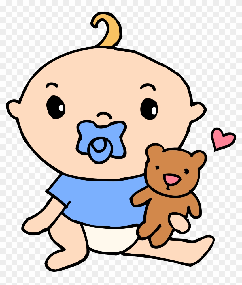 Baby Boy Monkey Clip Art - Cartoon Baby With Pacifier #1315