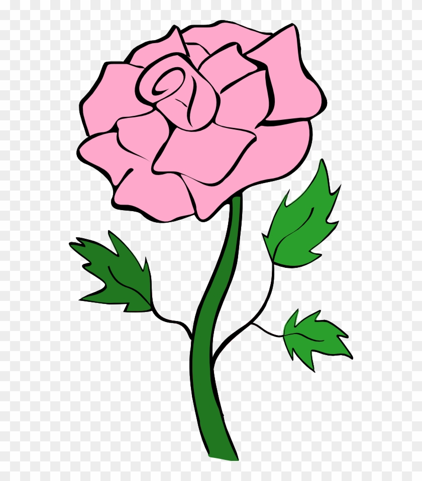 Clipart Rose - Pink Rose Clipart #1318
