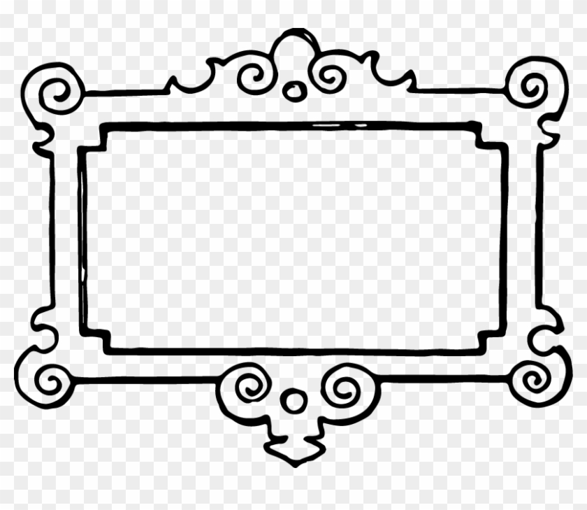 Clip Art Black And White Country Christmas Clipart - Frame Clip Art Black And White #1343