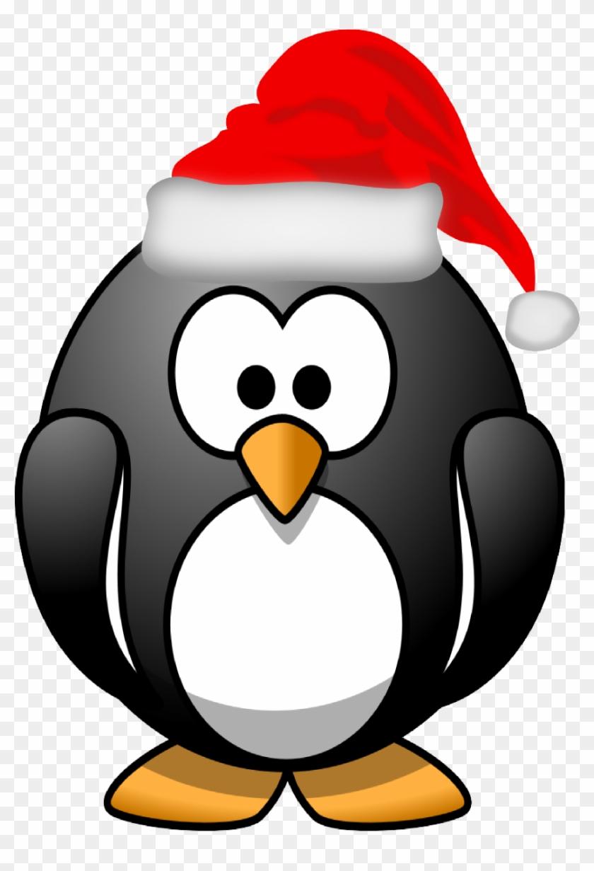 Penguin Clipart Santa - Christmas Pictures Cartoon Png #1346