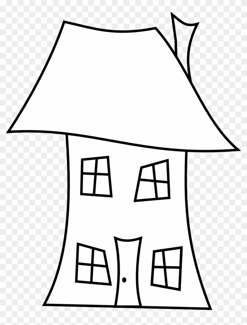 Clipart House Line Drawing Drawings Library Clip Art - Crooked House Clipart #1353