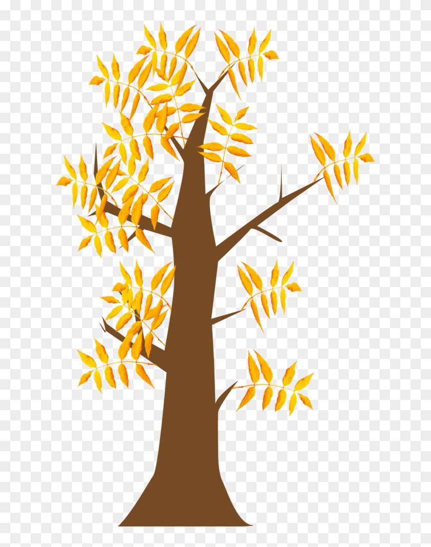 Autumn Clip Art Tree With Leaves - Autumn Clip Art Tree With Leaves #153