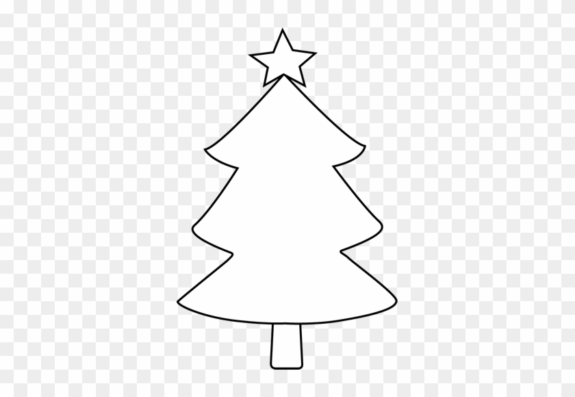 Black And White Blank Christmas Tree Clip Art - Black And White Blank Christmas Tree Clip Art #149