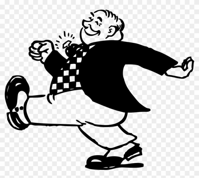 Happy Person Free Vector Graphic Man Walking Happy - Happy Person Free Vector Graphic Man Walking Happy #1453