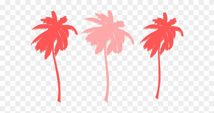 Tree Clipart Pink Palm - Tree Clipart Pink Palm #152