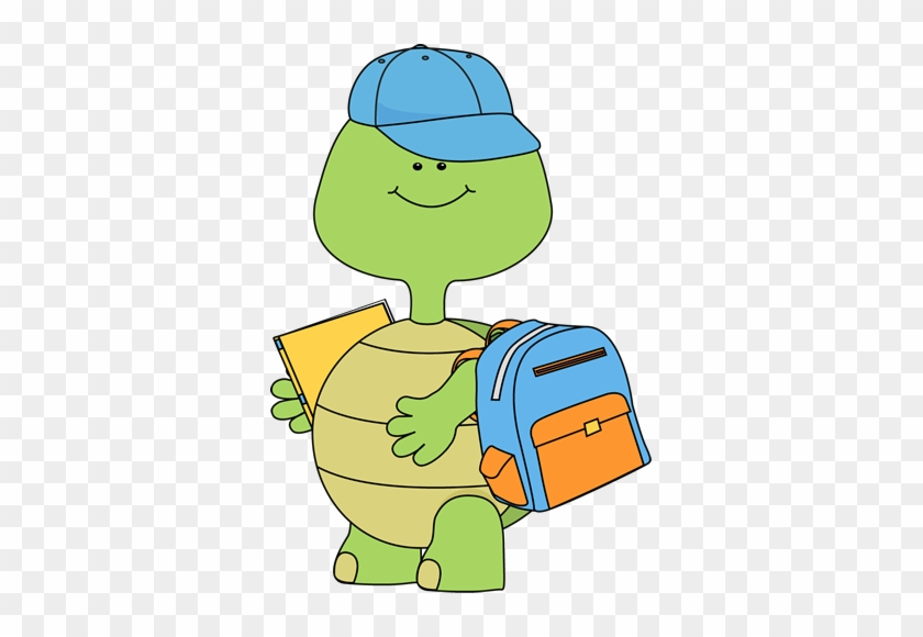Boy Turtle Going To School - Boy Turtle Going To School #1522