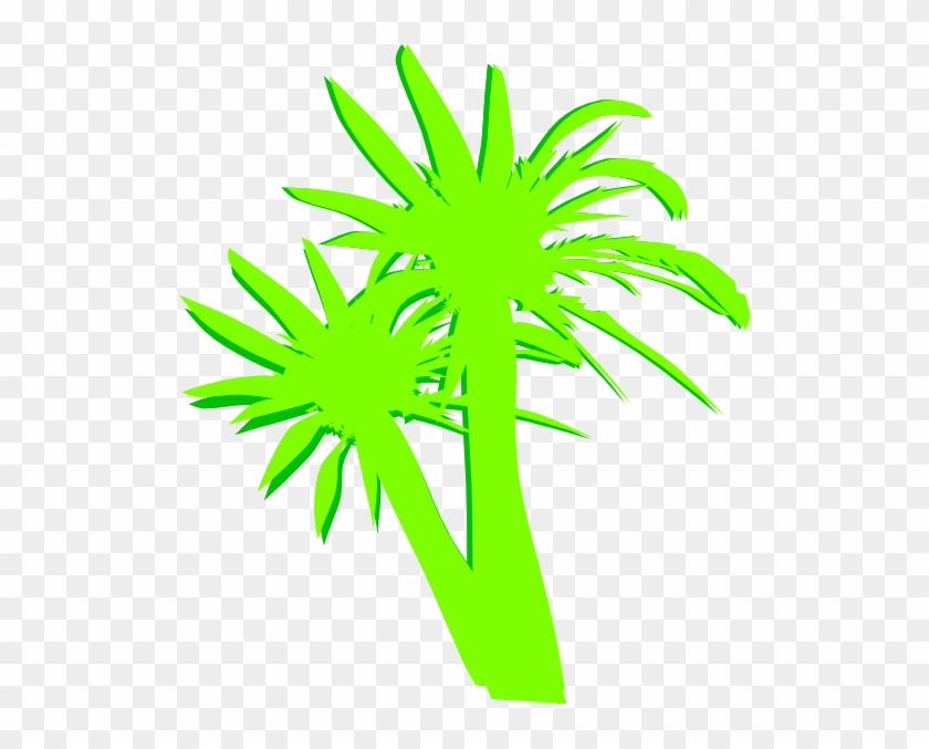 This Free Clip Arts Design Of 2 Palm Trees - This Free Clip Arts Design Of 2 Palm Trees #1561