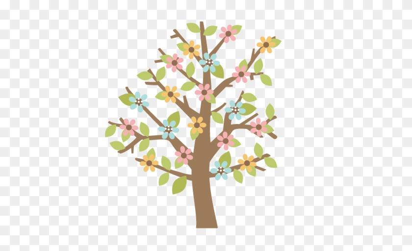 Spring Tree Scrapbook Cut File Cute Clipart Files For - Spring Tree Scrapbook Cut File Cute Clipart Files For #1586